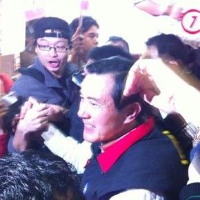 台湾総統選挙活動中の馬英九総統にバッタリ出会う!