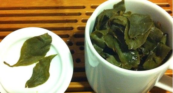 四季春茶の葉底