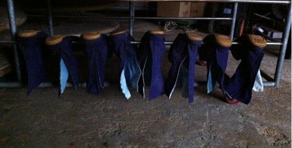 足袋を洗濯