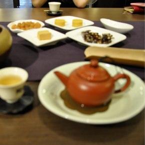 台北の茶藝館にて